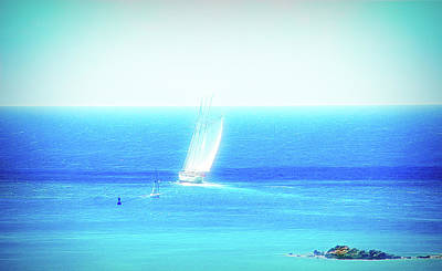 Photograph - City Flare Sail The Ocean Blue by Aimee L Maher ALM GALLERY