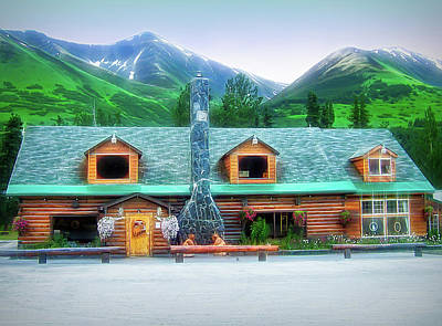 Photograph - City Flare Summit Lake Lodge Alaska by Aimee L Maher ALM GALLERY