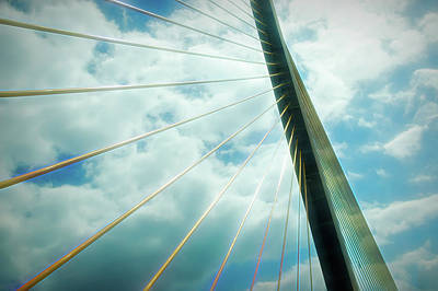 Photograph - City Flare Sunshine Skyway by Aimee L Maher Photography and Art Visit ALMGallerydotcom