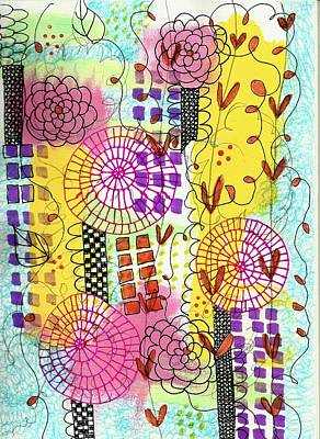 Mixed Media - City Flower Garden by Lisa Noneman