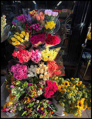 Photograph - City Flower Stand by Bonnie Follett