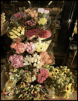 Photograph - City Flowers In Vintage Colors by Bonnie Follett