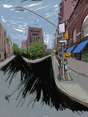 Nyc Mixed Media - City Fork II by Russell Pierce