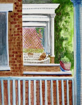 Bethany Lee Painting - City Front Porches by Bethany Lee