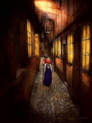 Path In Life Photograph - City - Germany - Alley - A Long Hard Life 1904 by Mike Savad