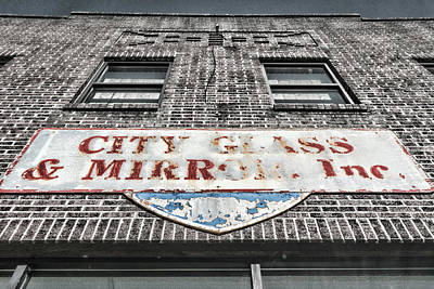 Photograph - City Glass And Mirror Sign by Sharon Popek
