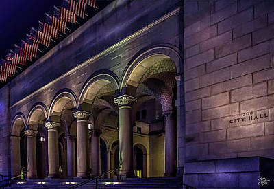 Photograph - City Hall At Night by Endre Balogh