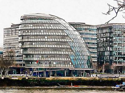 Photograph - City Hall At The River Thames Waterfront London by Dorothy Berry-Lound
