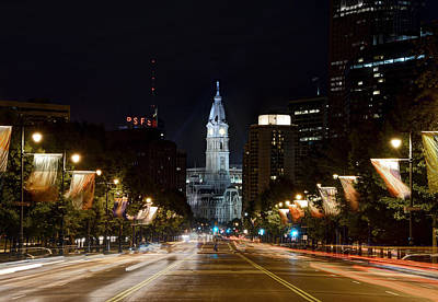 City Hall From The Parkway Art Print by Jennifer Ancker