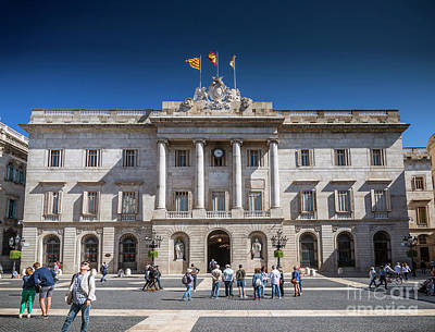 Photograph - City Hall Government Building At Sant Jaume Square Barcelona Spa by Jacek Malipan