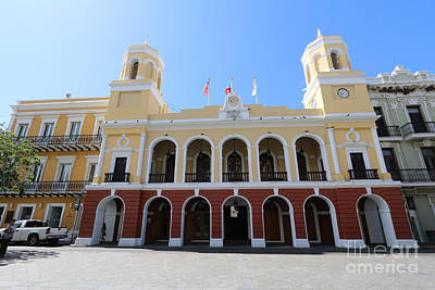Photograph - City Hall In Old San Juan by Steven Spak