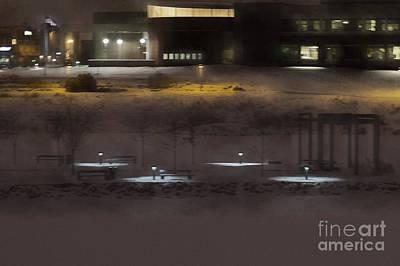 City Hall Digital Art - City Hall In Snow Haze by Gary Rieks