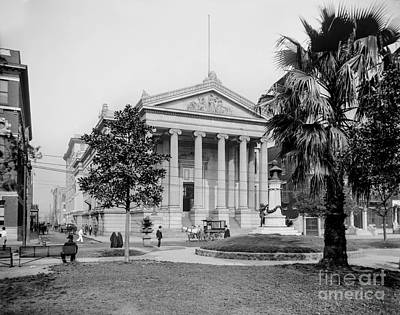 City Hall  Lafayette Square, New Orleans 1890 Art Print by Jon Neidert