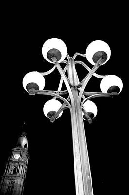 Photograph - City Hall Lamp by Andrew Dinh