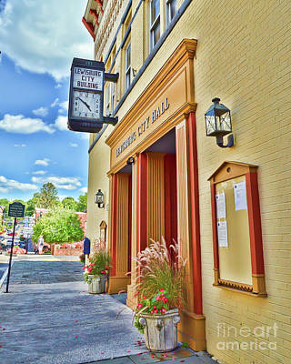Photograph - City Hall - Lewisburg West Virginia by Kerri Farley