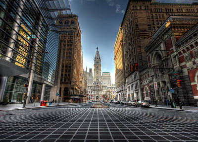 Philadelphia Scene Digital Art - City Hall by Lori Deiter