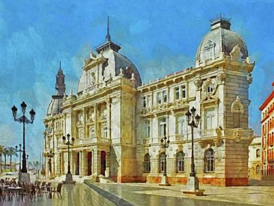 Digital Art - City Hall Of Cartagena Spain by Digital Photographic Arts