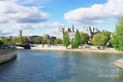 Photograph - Seine River Embankment by Anastasy Yarmolovich