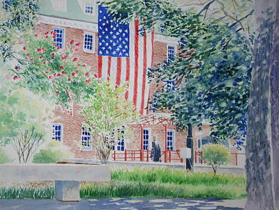 City Scape Painting - City Hall Old Town Alexandria Virginia by Tom Harris