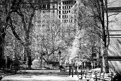 Photograph - City Hall Park Path by John Rizzuto
