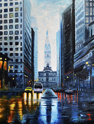Philadelphia Phillies Painting - City Hall Philadelphia 2016 by Timothy Caison