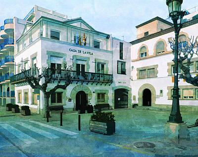 City Hall Digital Art - City Hall Sant Pol Maresme  by PixBreak Art