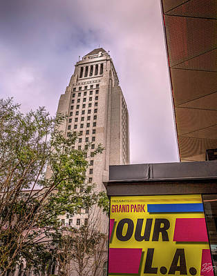 Photograph - City Hall Seen From Grand Park by Endre Balogh