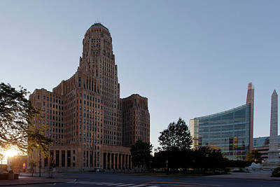 Buffalo City Hall Photograph - City Hall Sunset by Peter Chilelli