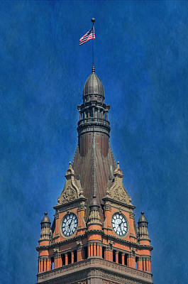 Photograph - City Hall Tower by Susan  McMenamin
