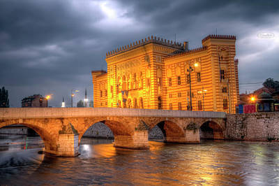 Photograph - City Hall, Vijecnica, In Sarajevo, Bosnia And Herzegovina, Hdr by Elenarts - Elena Duvernay photo