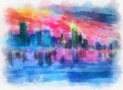 Painting - Miami Impressions by Anne Sands