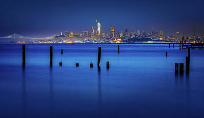 Photograph - City In Blue  by Janet Kopper