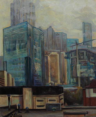 City In The Cityscape Art Print by Maris Salmins