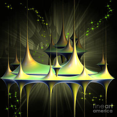 Digital Art - City In The Sky by Melissa Messick