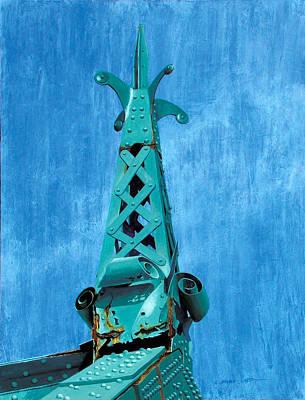 Painting - City Island Bridge Spire by Marguerite Chadwick-Juner