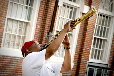 Saxophone Photograph - City Jazz by Greg Fortier