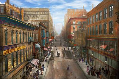 Emery Photograph - City - Kansas City Mo - Petticoat Lane 1906 by Mike Savad