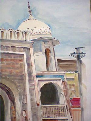Bahawalpur Painting - City Land Mark by Khalid Saeed