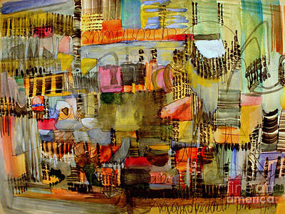 Painting - City Life  by Nancy Kane Chapman