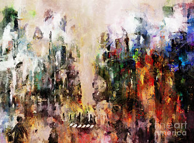 Mixed Media - City Life by Claire Bull