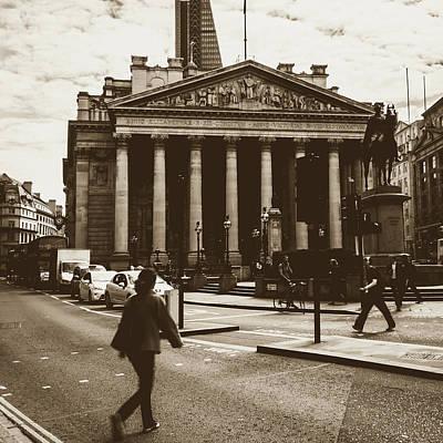 Art Print featuring the photograph City Life On London Streets by Jacek Wojnarowski