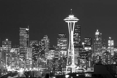Seattle Photograph - City Lights 1 by John Gusky