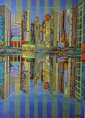 Mixed Media - City Lights by Bob Craig