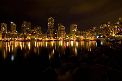 Granville Island Photograph - City Lights by Naman Imagery