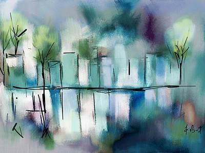 City Lights Original by Frank Bright
