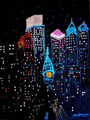 Painting - City Lights by Lilliana Didovic