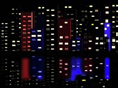 Digital Art - City Lights by Lisa Stanley