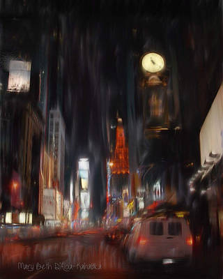 Painting - City Lights by Mary Beth D'Aloia