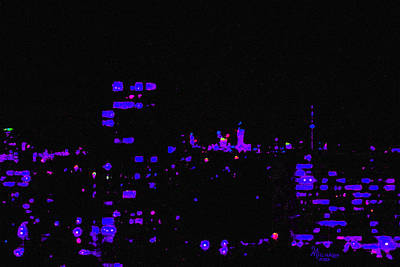 Painting - Toronto City Lights by Michael A Klein