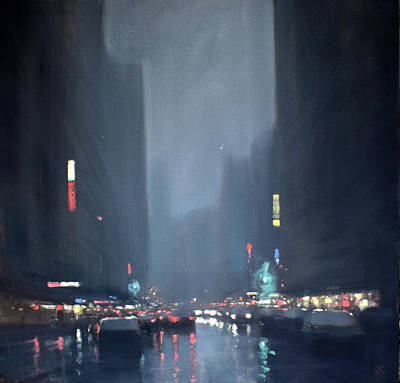 Wall Art - Painting - City Lights by Mike Barr
